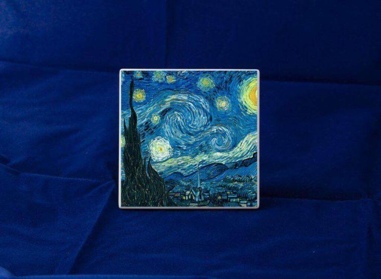 Fotoceramica Quadrata Notte Stellat Van Gogh Dekala