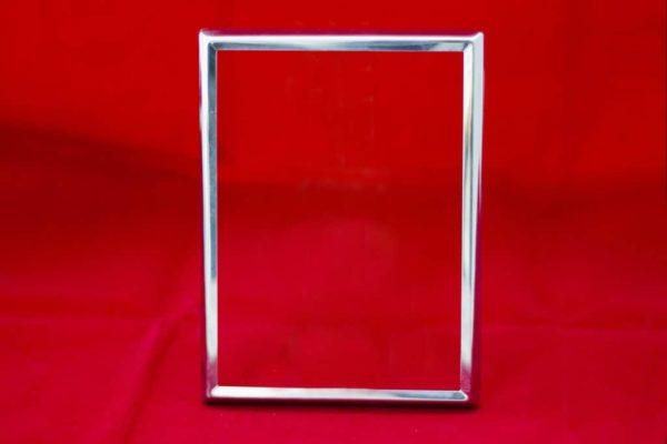 Cornice rettangolare Inox per Fotoceramica
