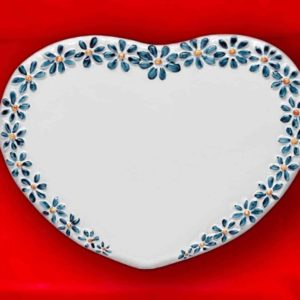 Fotoceramica Cuore Serie Margherita Blu